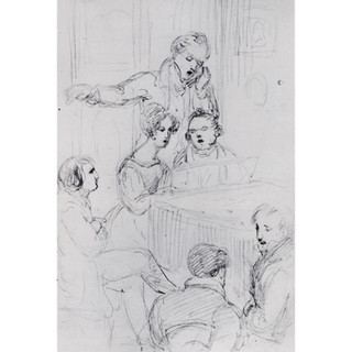 Waldmüller sketch, 1827