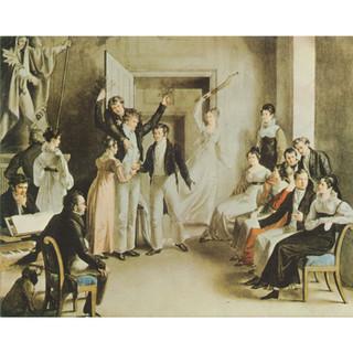 Kupelwieser: Gesellschaftsspiel der Schubertianer: Der Südenfall, 1821