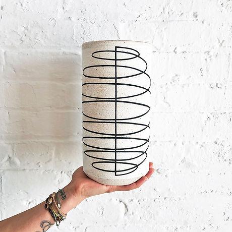 Vessel Tall Thin Spiral