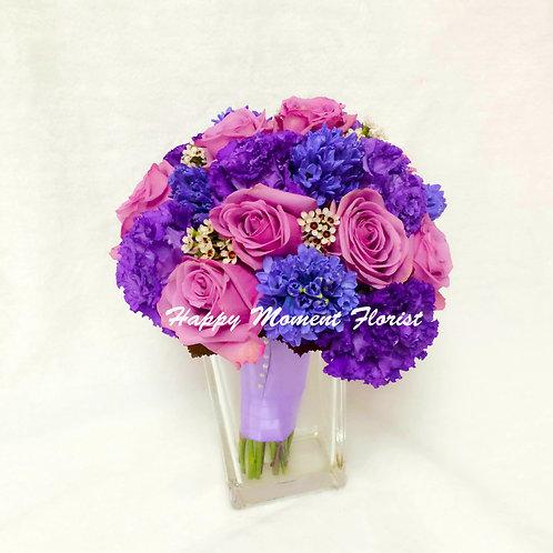 美國玫瑰風信子結婚花球
