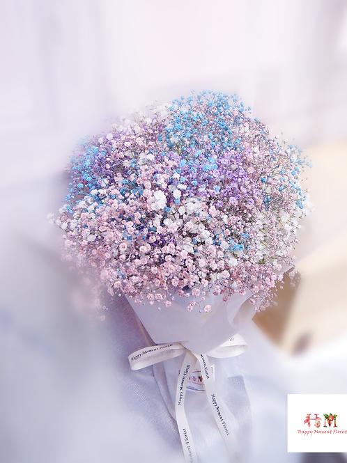 彩色滿天星花束