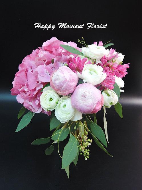牡丹繡球結婚花球