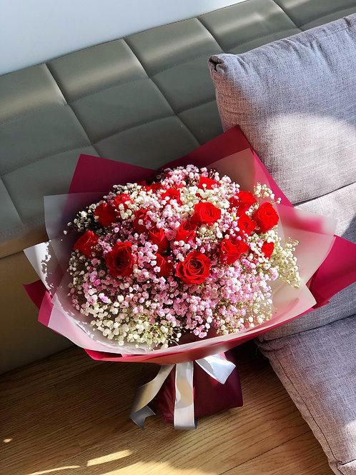 肯亞紅玫瑰花束