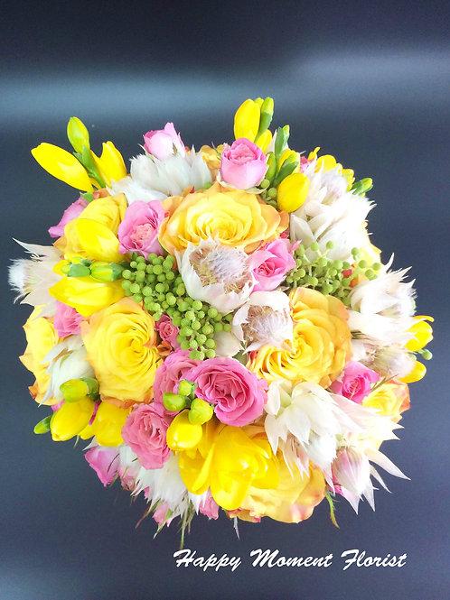 肯亞玫瑰結婚花球