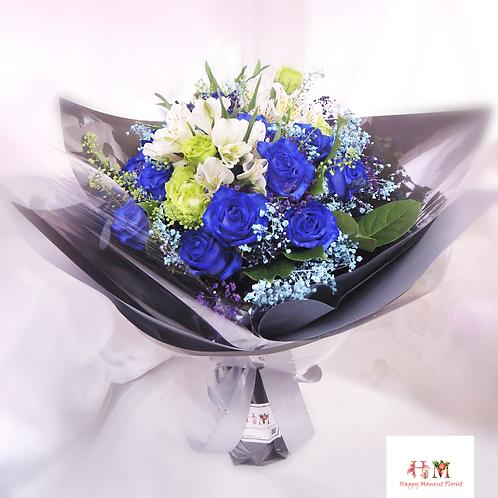 荷蘭藍玫瑰花束
