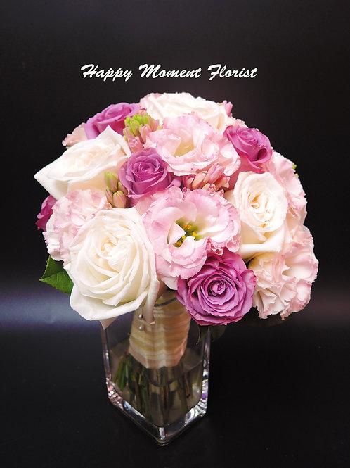 肯亞玫瑰風信子結婚花球