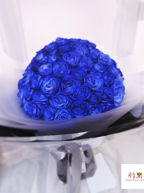 99枝荷蘭藍玫瑰求婚花束