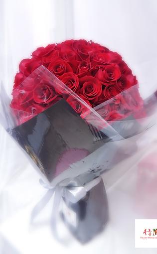 108枝紅玫瑰求婚花束