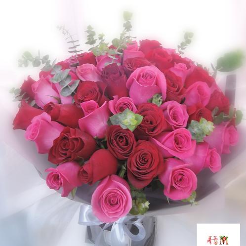 57枝肯亞玫瑰花束