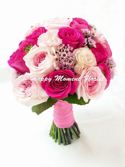 美國庭園玫瑰結婚花球