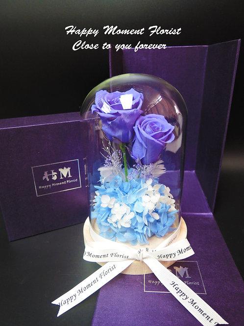 紫藍玫瑰保鮮花(兩枝)
