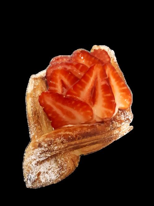 6 Paniers de fraises fromage à la crème