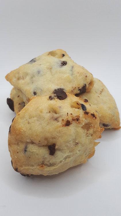 Scônes bleuets, gingembre confit et choco noir, ensemble de 6 (MARDI)