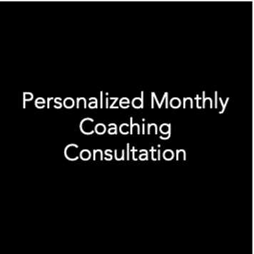 Personalized Monthly Coaching Consultation