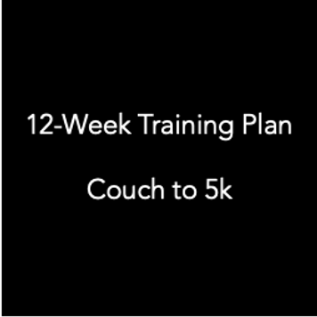 Couch to 5k 12-week training plan