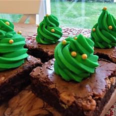 Box of 6 Christmas Tree Brownies