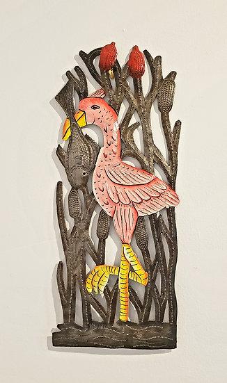 Haitian Drum Art - Flamingo