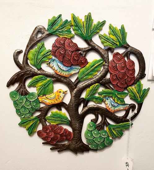 Haitian Drum Art - Small tree with birds 2