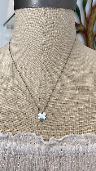 Silver Clover Leaf Necklace
