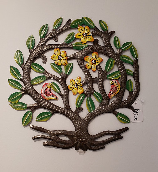 Haitian Drum Art - Small tree with birds