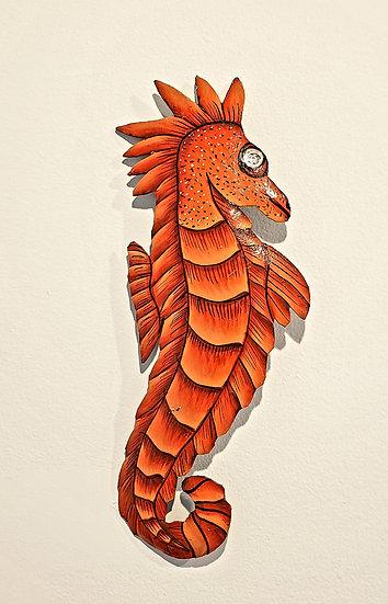Haitian Drum Art - Orange Sea Horse