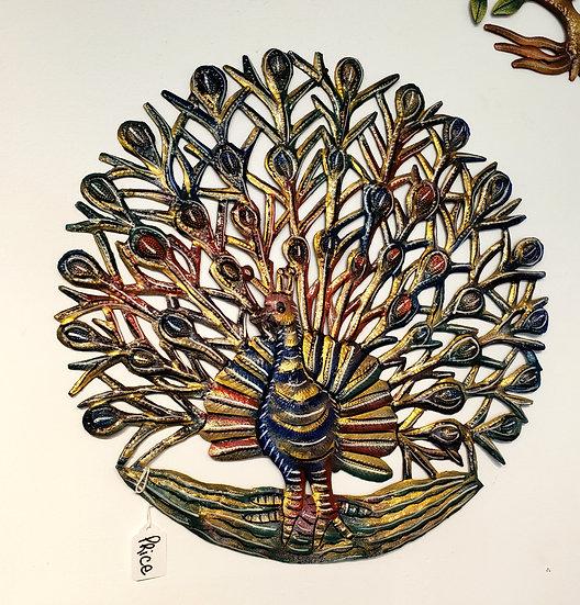 Haitian Drum Art - Peacock