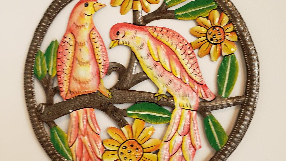 Birds and sunflower