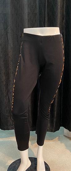 Black Pants w/Animal Print designer on the side