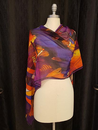 Kandinsky Scarf 100% Silk