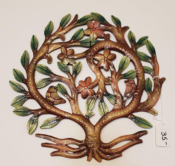 Haitian Drum Art - Small tree with birds 4