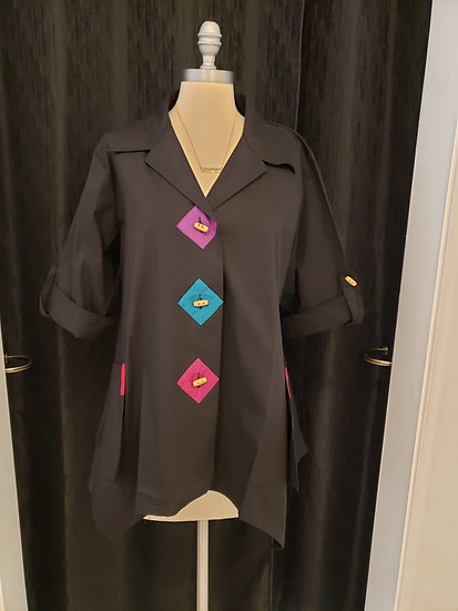 Geometric Shirt +Pockets