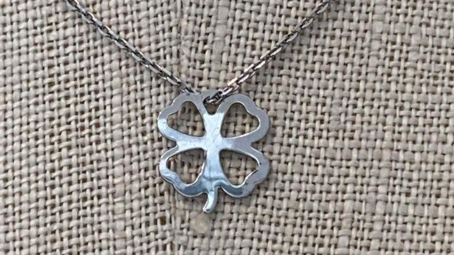 Silver Clover Leaf 1 Necklace