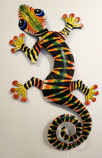 Haitian Drum Art - Gecko 1