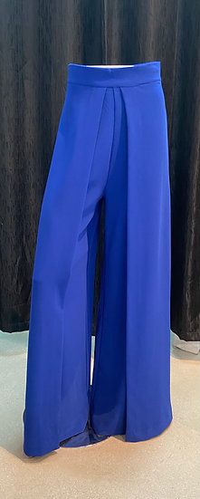 Front Wide Pleat Palazzo Pants