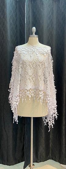 White Lace Poncho
