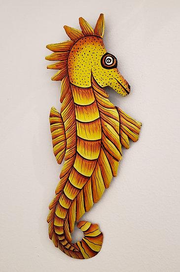Haitian Drum Art - Yellow Sea Horse