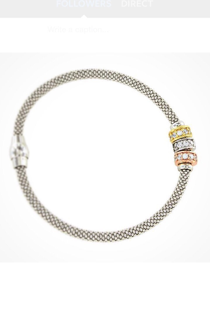 18ct White Gold Infinity Bracelet Multi