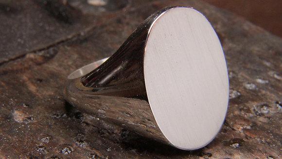 Chevalière Ovale large moyen format