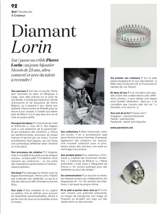 Article de Zut Magazine Printemps 2014