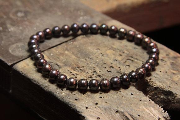 Bracelet Perles de culture noire