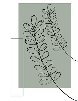 Illustratie two leaves