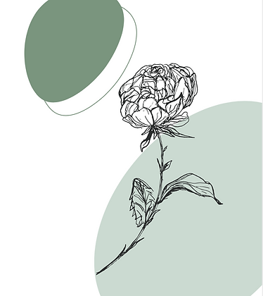 Illustratie rose with leaves