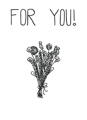 Illustratie for you some flowers