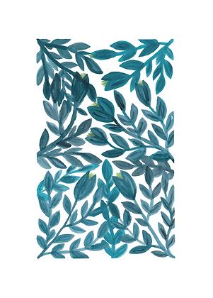 Illustratie blauwe bloemen