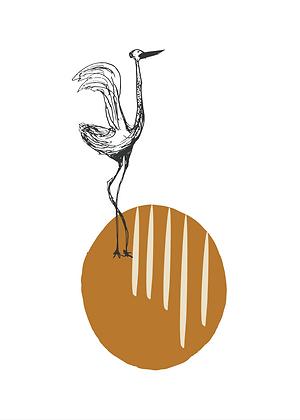 Illustratie kraanvogel