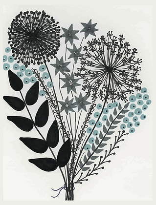 Illustratie bosje bloemen