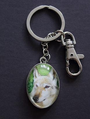Wolf Portrait Aquarell Leonie Nowotsch Schlüsselanhänger