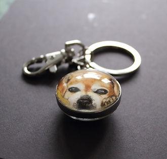 Hunde Portrait Aquarell Schlüsselanhänger