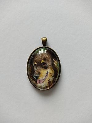 Hund Portrait Aquarell Leonie Nowotsch Kettenanhänger