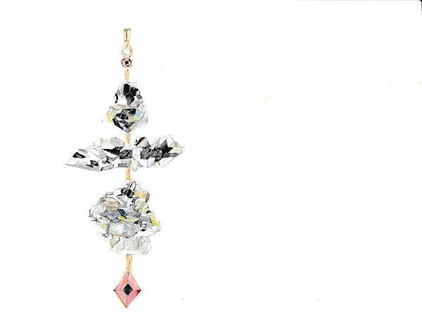 Herkimer Diamond Totem by Hanut Singh